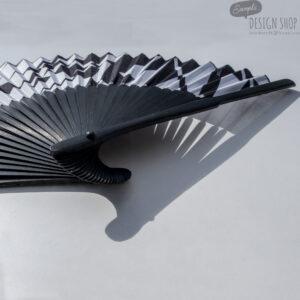 Fekete-fehér absztrakt - artfans legyező