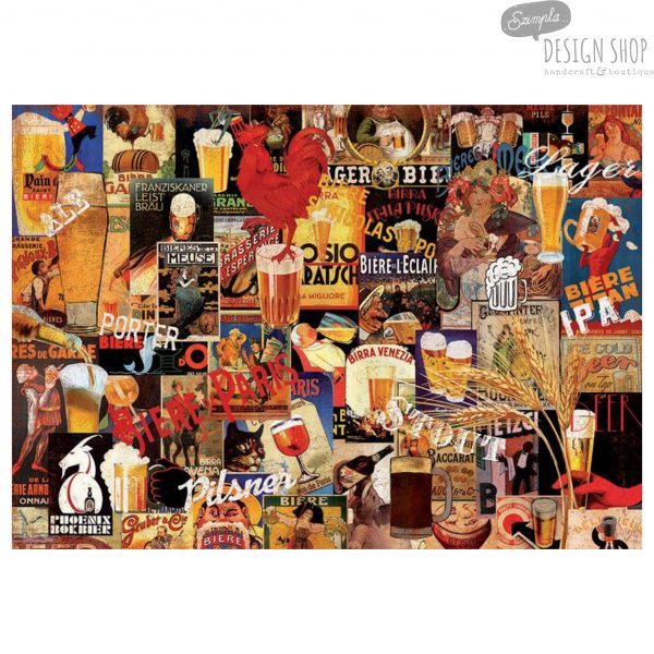 Vintage sörös plakátok 1000 darabos puzzle