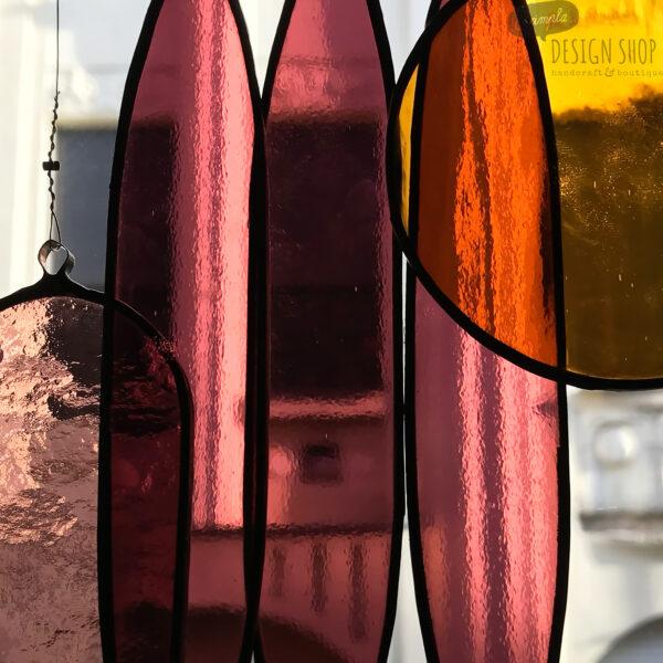 Üveg fénycsapda - Naplemente a kiserdőben (lila/méz)