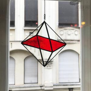 Oktaéder illúzió - piros fénycsapda