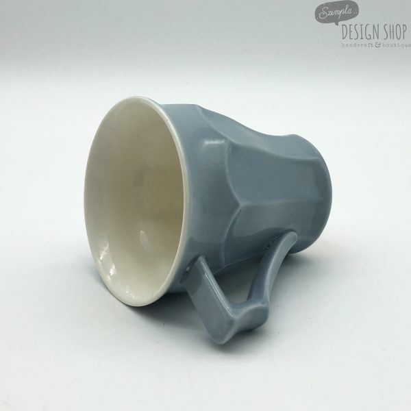 1,5 dl-es füles szürke porcelán kávés csésze