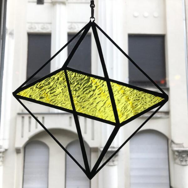 Oktaéder illúzió - citromsárga fénycsapda