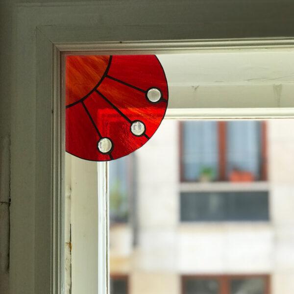 Üveg ablaksarok fénycsapda - piros