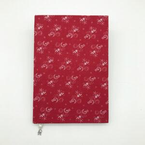 Piros kékfestőhatású füzet - Juditnotes