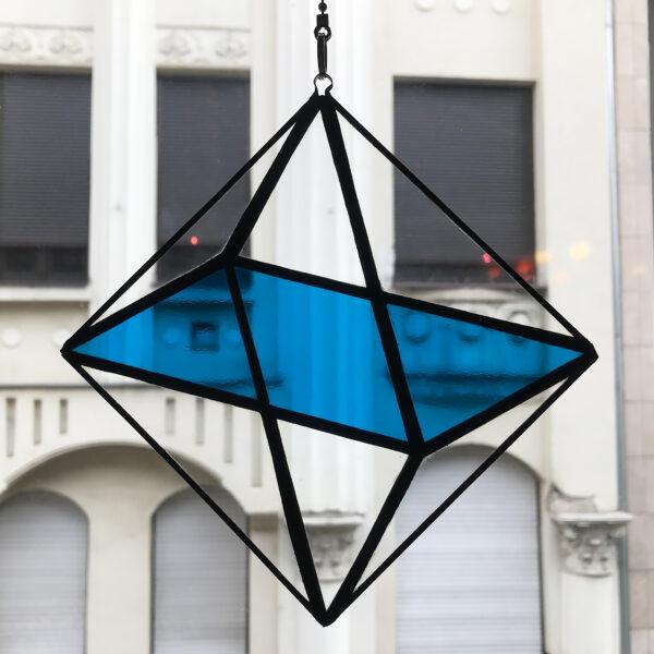 Oktaéder illúzió - kék fénycsapda