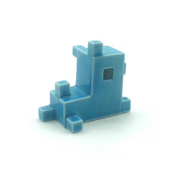 Kék porcelán kutya (fekvő) - YUTTA design