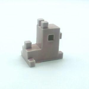 Rózsaszín porcelán kutya (fekvő) - YUTTA design