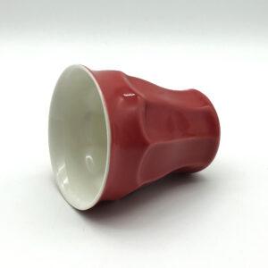 1,5 dl-es fületlen piros porcelán kávés csésze