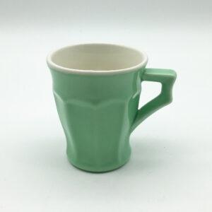 1 dl-es füles zöld porcelán kávés csésze - YUTTA design